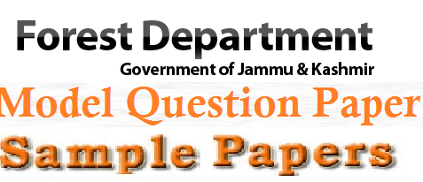 J&K (JKPSC) Forest Dept Model Question Paper & Answer Key