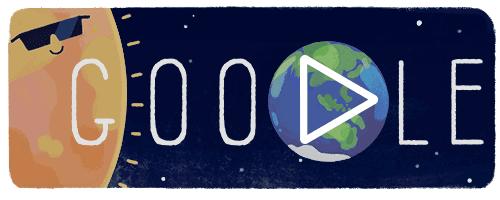 Gerhana Matahari Total Google Doodle
