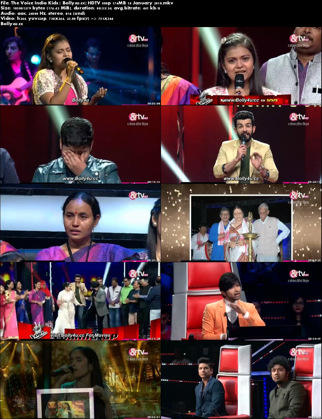 The Voice India Kids HDTV 480p 170MB 14 January 2018 Download