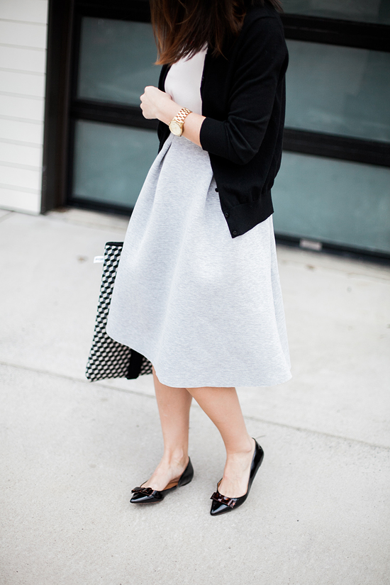 Here&Now: how to style a midi skirt for work
