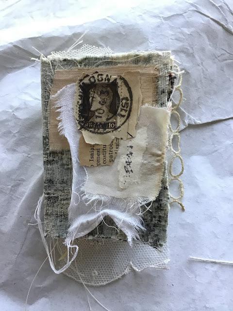 Mixed Media Mini Fabric Book