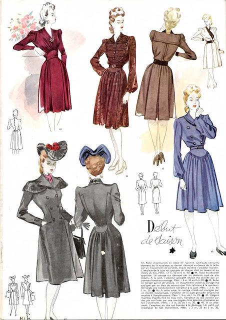 magazine mode et travaux octobre 1942 robes début de saison