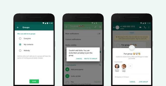 Pengaturan Privasi Group WhatsApp Yang Baru