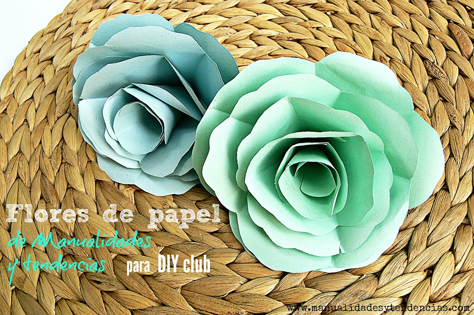 Manualidades y tendencias flores de papel f ciles for Rosas de papel