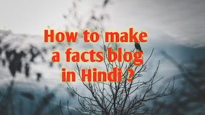 how to make a facts Blog in Hindi, Facts Blog