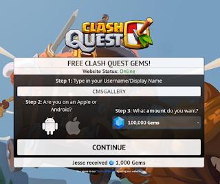 Viatweaks com Free Clash Quest Gems from viatweaks.com