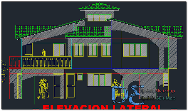 Fourth generation production houses in AutoCAD