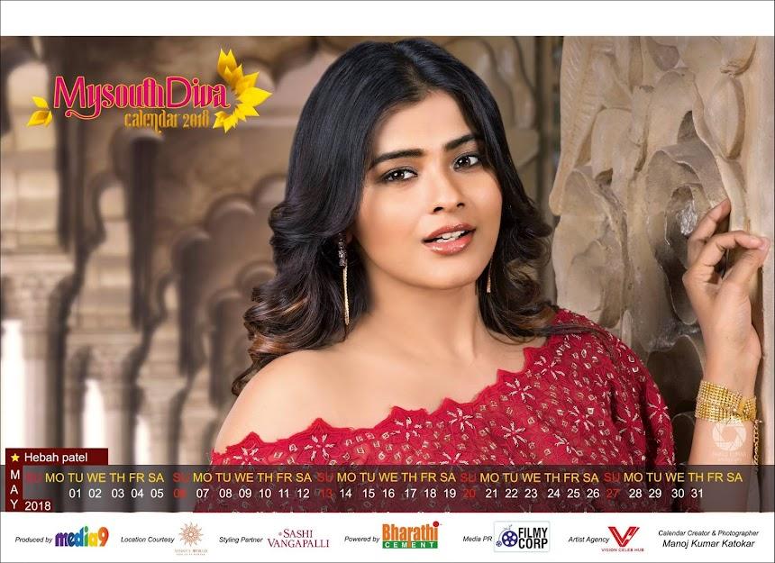 My South Diva Calendar 2018 - Hebah Patel