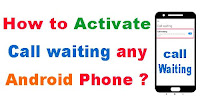 How to activate call waiting any Android phone?