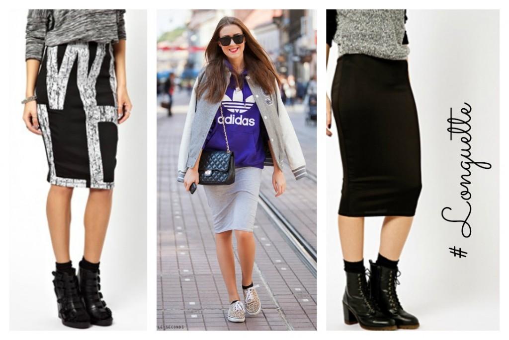 the brunette fashion  Longuette o Pencil skirt  ecco come indossarla.. a6d00f6ce1e