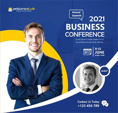 Membuat flyer konferensi bisnis di Coreldraw