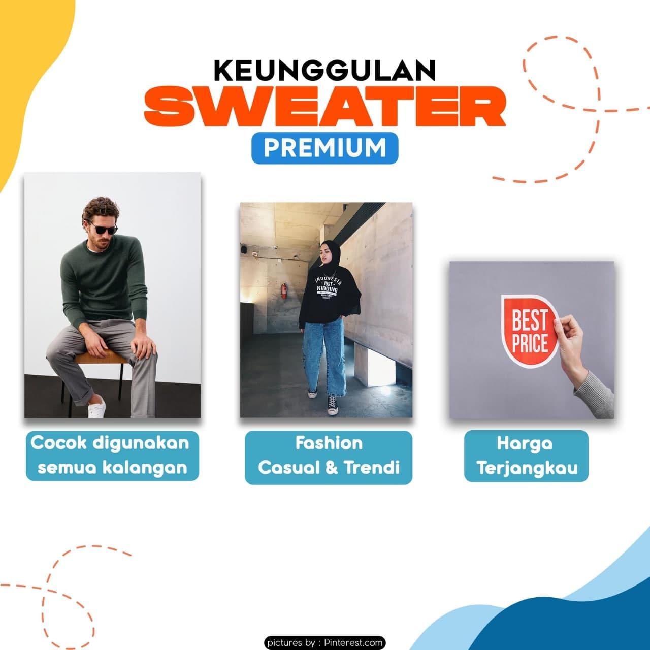 Keunggulan Sweater Premium