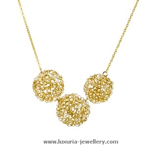 statement bib necklace in gold-Luxuria Jewellery Boutique