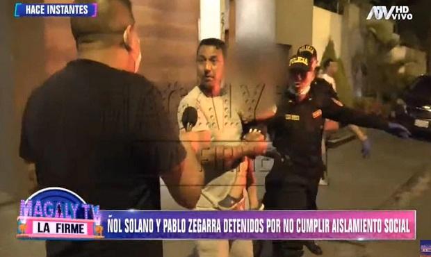Nolberto Solano y Pablo Zegarra son detenidos por no cumplir aislamiento social