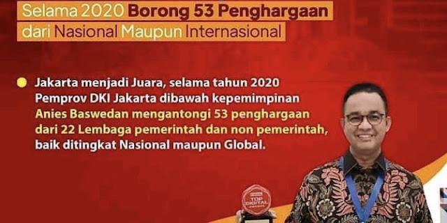 Kerap Disebut Tak Bisa Kerja, Ternyata Anies Borong 53 Penghargaan Sepanjang 2020