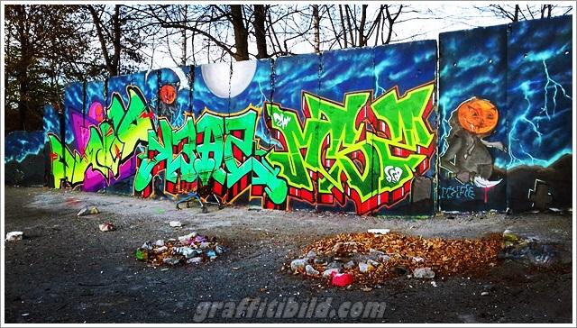 Halloween, graffiti, street art, kürbis, halloween bilder