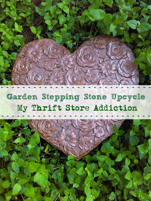 garden stepping stone upcycle