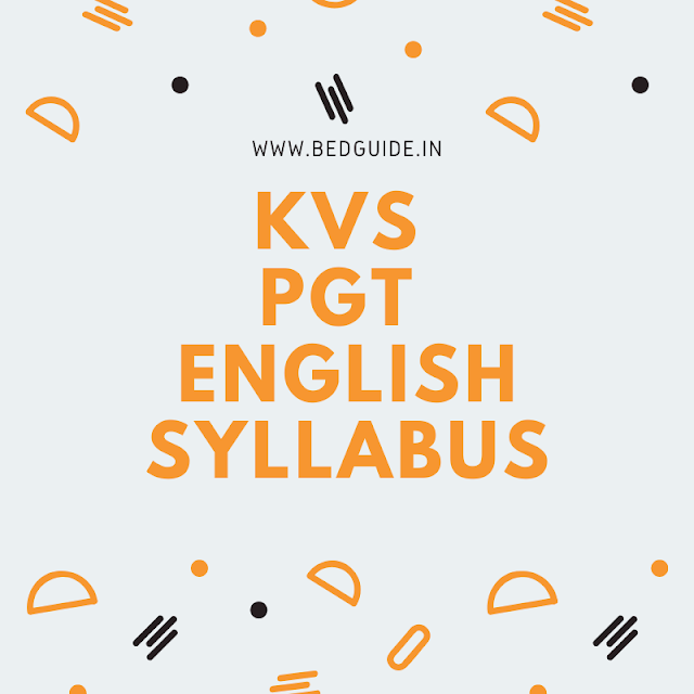 KVS PGT English Syllabus 2020 PDF Download
