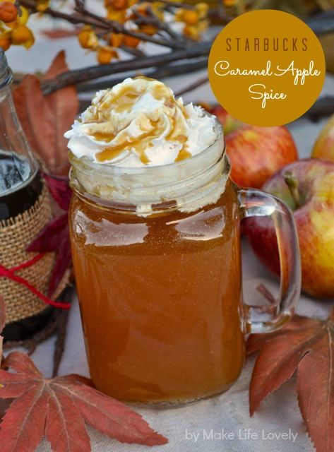 Starbucks caramel apple spice recipe.  It's easy and MUCH cheaper to make this yummy drink at home!