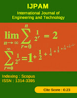International Journal Of Pure And Applied Mathematics – (IJPAM)