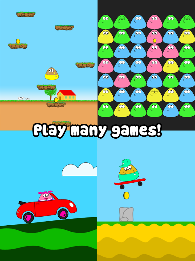 download game pou mod apk versi terbaru