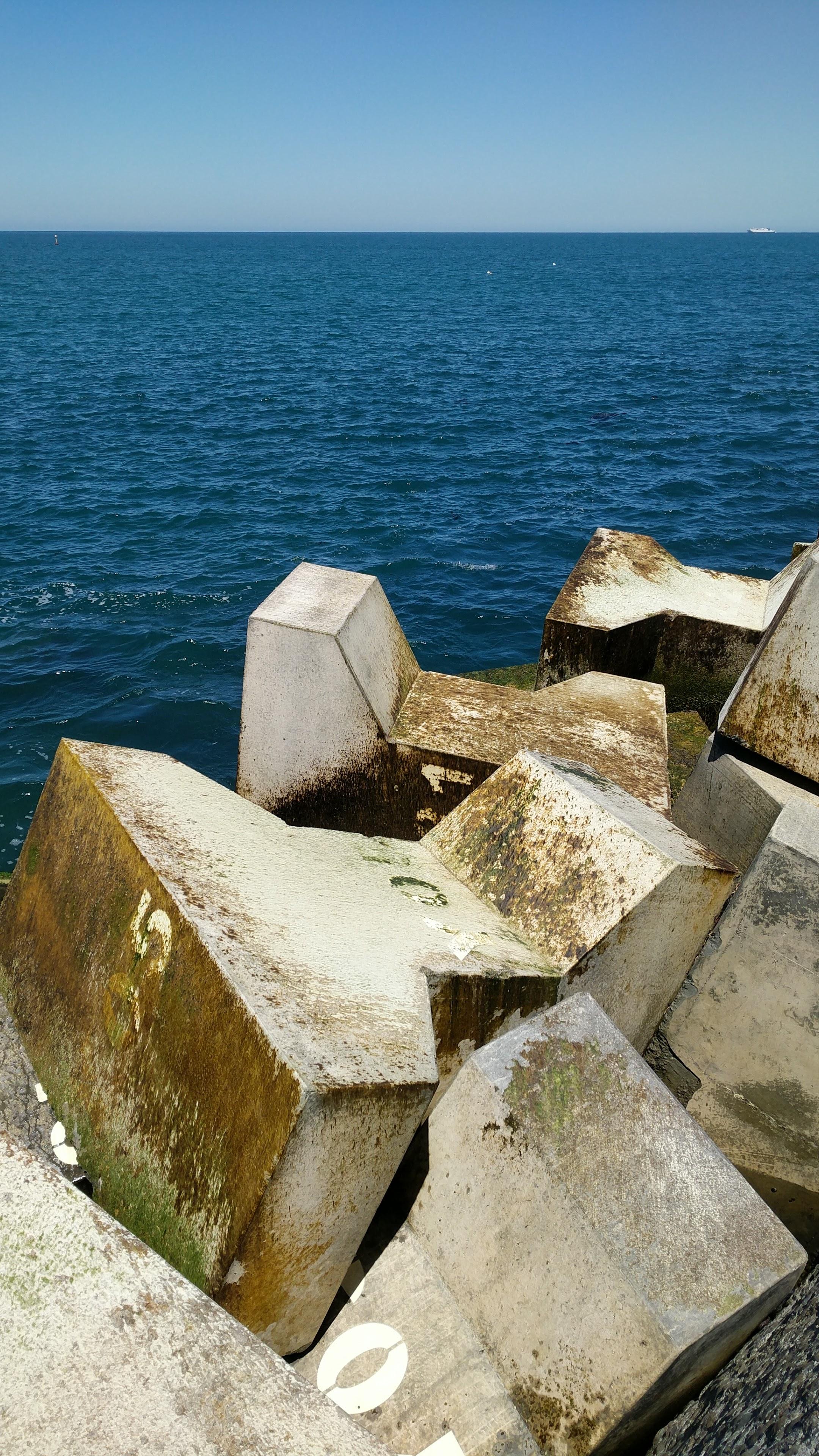 Blocks at Lyall Bay View Point and Fishing Pier