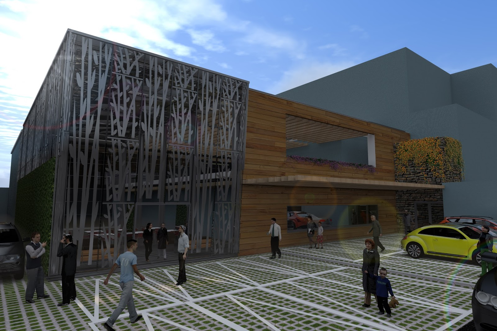 Arquitectura y dise o plaza lomas verdes for Diseno de muros verdes