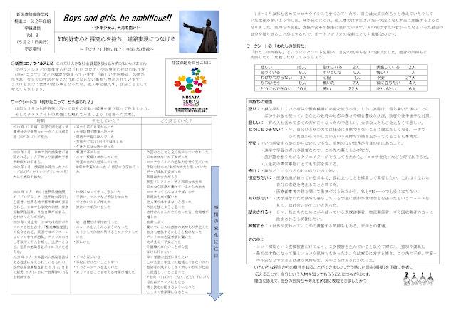 学級通信1(5月21日発行)