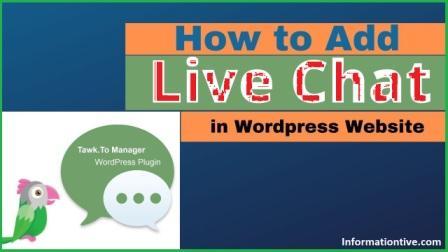WordPress ब्लॉग मे Live Chat कैसे Add करे ?
