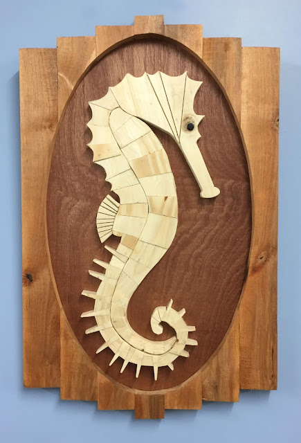 Seahorse Wooden Wall Art made with Reclaimed Wood