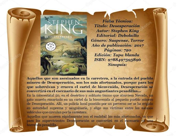 """Reseña: """"Desesperación"""" - Stephen King"""