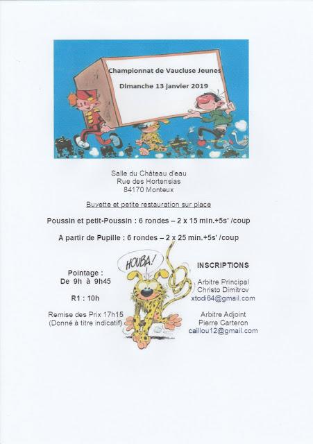 le blog des jeunes joueurs de l u0026 39 echiquier centre vaucluse
