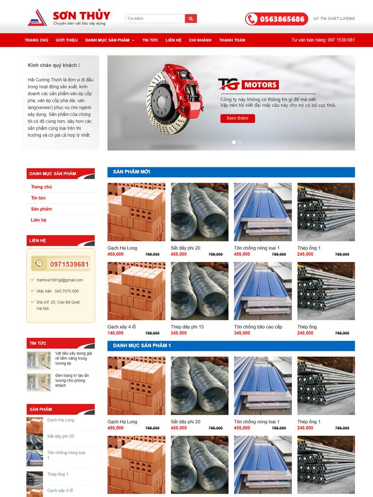 Template blogspot vật liệu xây dựng