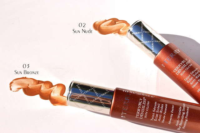 by terry sun glow swatches