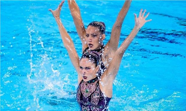 Laura Miccuci e Luisa borges competindo