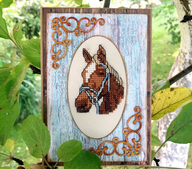 Zwierzęca wymianka kartkowa - konie