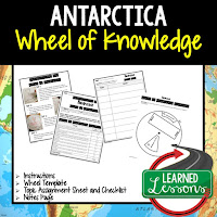 Antarctica Activity, World Geography Activity, World Geography Interactive Notebook, World Geography Wheel of Knowledge (Interactive Notebook)