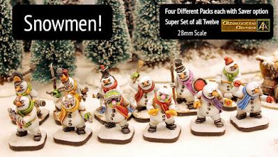 New Snowmen and value set seasonal range 28mm and 15mm