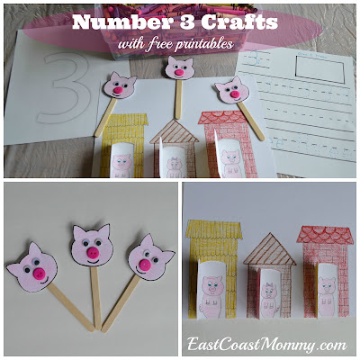East Coast Mommy Number Crafts And Activities 1 10 Including