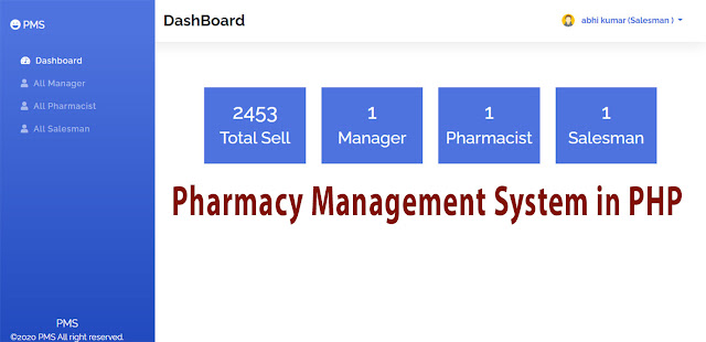 Pharmacy Management System in Php