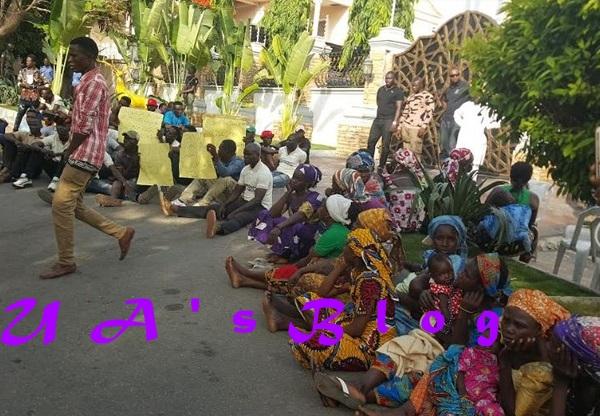 PHOTOS: IDPs troop to Melaye's residence