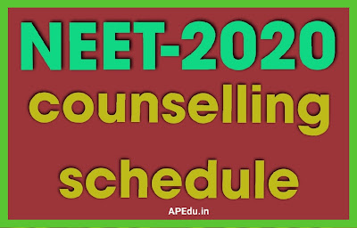 NEET counselling 2020 schedule released