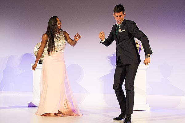 Serena Williams and Novak Djokovic  the world's best tennis players dabced