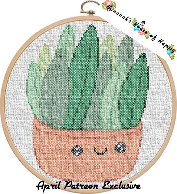 cross stitch succulent, crazy plant lady cross stitch, succulent cross stitch pattern, kawaii plant, kawaii succulent, cross stitch succulent pattern