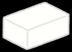 四角いチーズ・バターのイラスト1