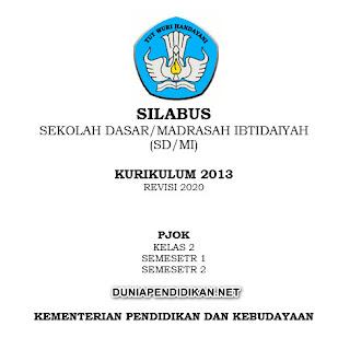 Silabus PJOK Kelas 2 SD/MI Semester 1&2 K13 Revisi 2021
