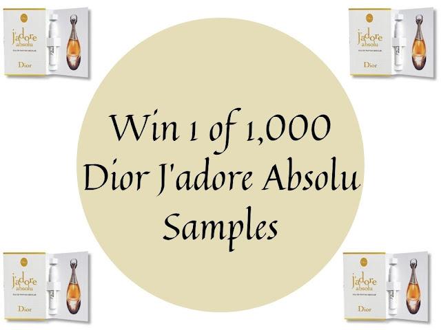 Win 1 of 1,000 Dior J'adore Absolu Samples