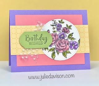 Stampin' Up! Fancy Phrases Card ~ www.juliedavison.com #stampinup