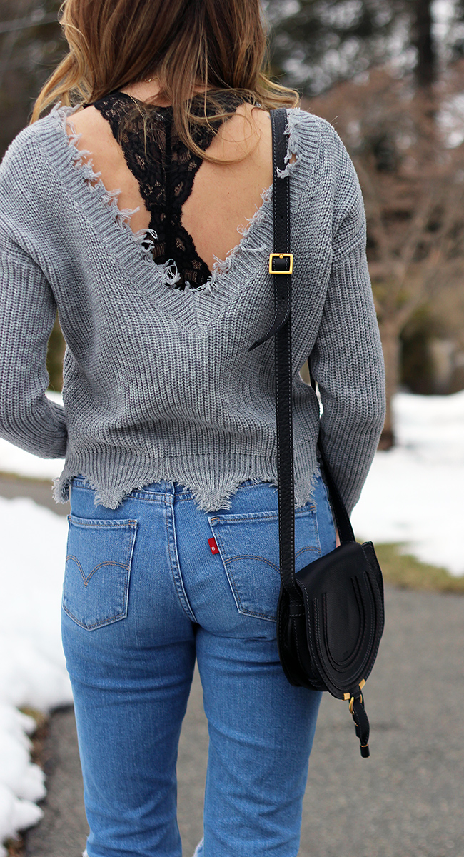 Open back Sweater #springstyle