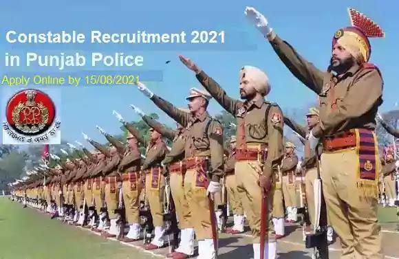 Punjab Police Constable Vacancy Recruitment 2021